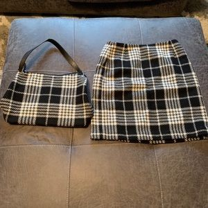 Plaid Pencil Skirt with Matching Purse!